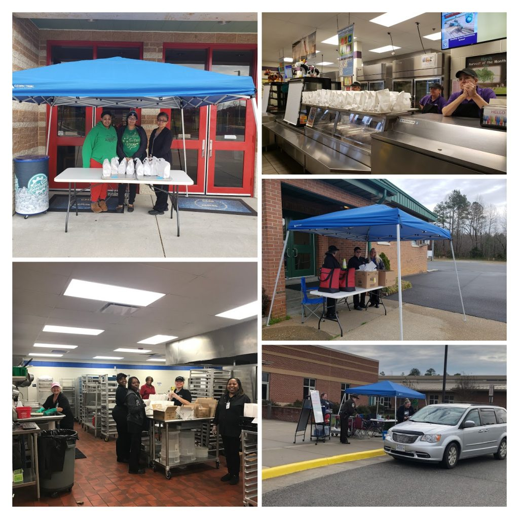 collage of grab and go meal service